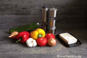 Gemüse und Gewürze zum kochen