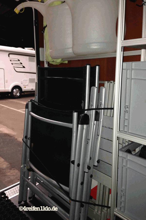 Regalsystem In Der Wohnmobil Heckgarage Bringt Bersicht