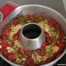 schafskaese mit tomaten-omnia backofen-thermometer