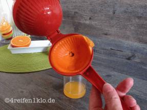 Ausgepresste Orangenhälfte