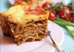 Lasagne aus dem Omnia-Backofen