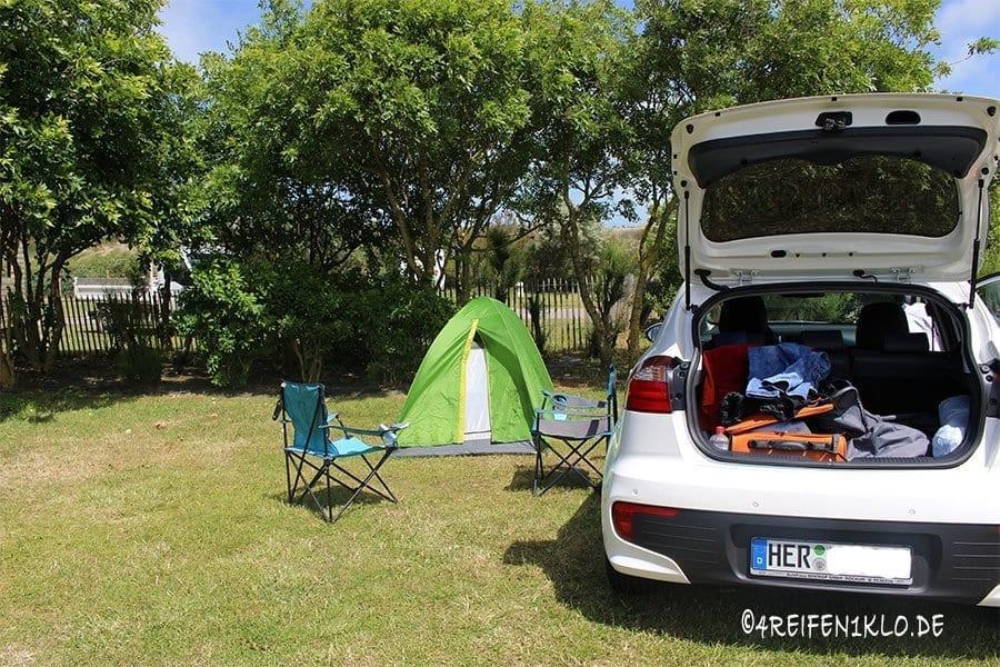 Unterwegs mit 4 Reifen und 1 Zelt
