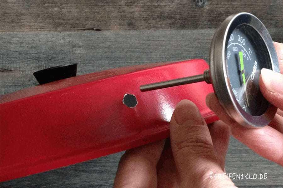Thermometer Omnia Deckel einbauen
