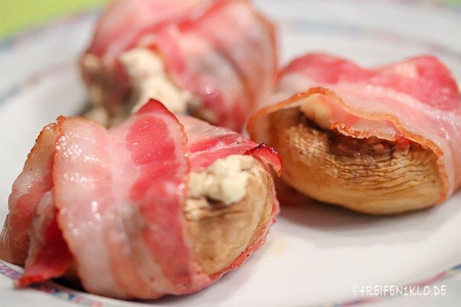 Bacon-Feta-Champignons Omnia-Rezept