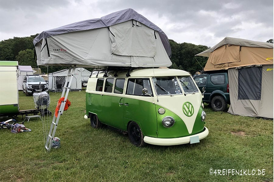 Dachzelt auf VW-Bulli