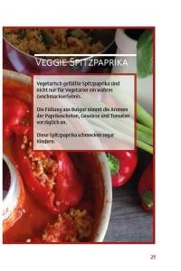 Vegetarische Paprikaschoten aus dem Omnia Backofen