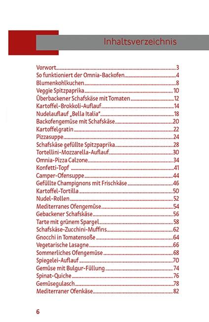 Vegetarisches Rezeptbuch Omnia-Backofen