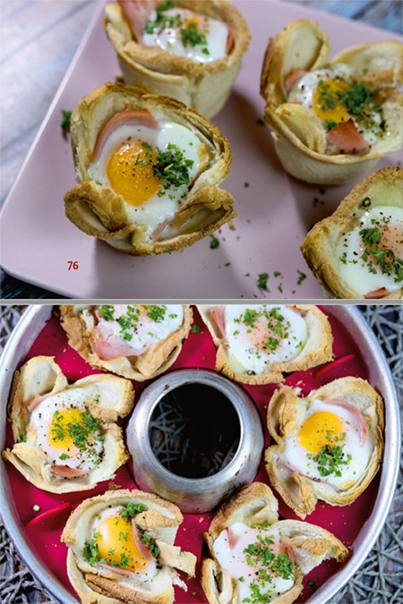 Frühstückseier-Muffins aus dem Omnia Campingbackofen