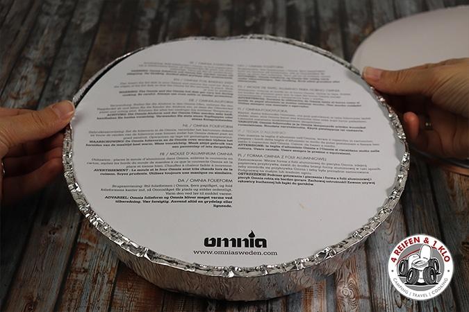 Verschlossene Folienform Zubehör Omnia-Backofen