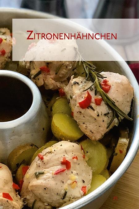 Zitronenhähnchen Omnia Backofen Chicken Kochbuch