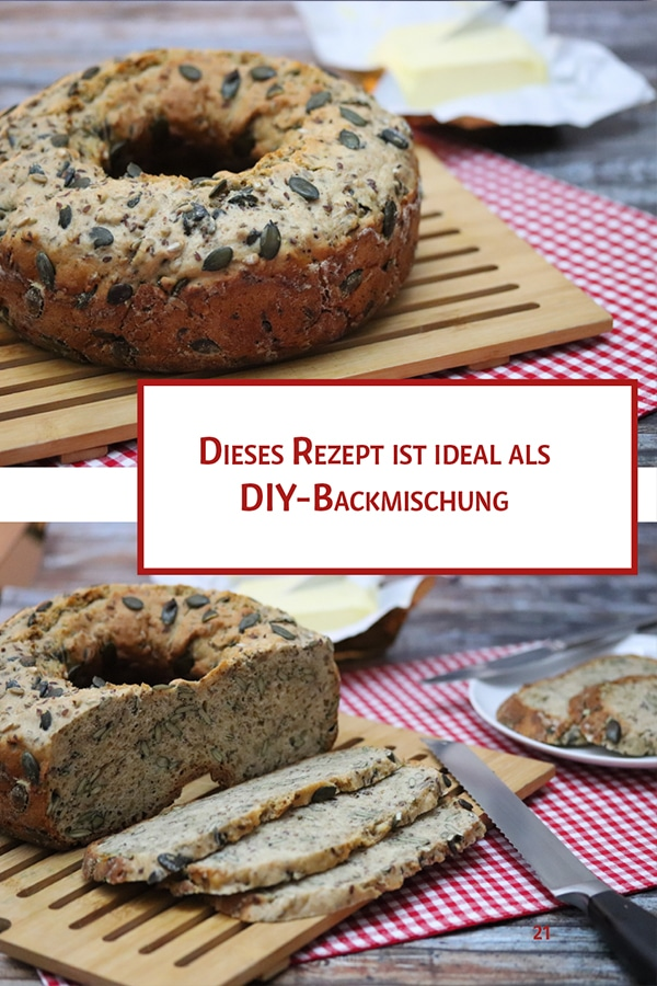 Kürbiskern-Vollkorn-Brot | Brot backen im Campingbackofen
